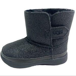 UGG Australia Keelan Toddlers Black Glitter Boots